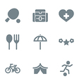 gray icon set activity and rest vector image vector image