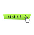 hand cursor with animation action over green vector image