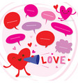 heart speak love to sweetheart cute cartoon vector image vector image