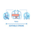 injury concept icon trauma idea thin line vector image vector image