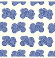 japanese chinese ocean clouds pattern vector image