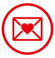 love letter rounded icon vector image vector image