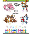 mathematical activity for children vector image vector image