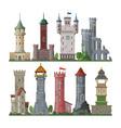 medieval tower cartoon castle fairytale of vector image vector image