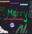 merry christmas text on dark background vector image vector image