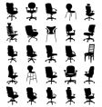 modern chairs vector image vector image