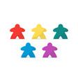 multicolor meeples vector image vector image