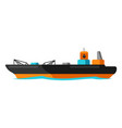 oil marine tanker vector image