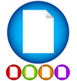 paper with folding corner clean simple icon vector image