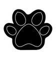 paw mascot isolated icon vector image vector image