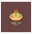 pistachio green logo sign organic food vector image