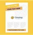 pizza title page design for company profile vector image vector image