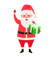 santa and gift box vector image vector image