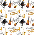 seamless instruments vector image