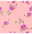 Seamless pink pattern with flowers vector image