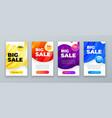 set dynamic modern fluid sale banner for social vector image