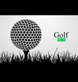 silhouette of a golf ball vector image vector image