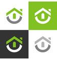 simple house logo abstract home icon vector image vector image