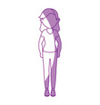 stand up women cartoon vector image