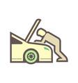 technician car icon vector image vector image