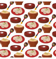 traditional russian cuisine culture dish seamless vector image