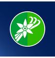 Vanilla flower and vanilla pods Logo vector image vector image