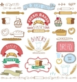 Vintage Bakery Labels elementsHand sketched vector image