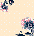 Vintage wallpaper frame rose flower pattern vector image vector image