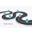 winding 3d road infographic concept on a white vector image vector image