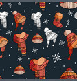 winter holiday january pattern vector image vector image