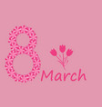 women s day background with russian text march 8 vector image