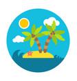 holiday summer island flat circle style vector image