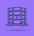 isolated linear icon of barrel for wine storage vector image