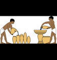 ancient egypt water carries vector image