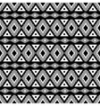 Geometric black and white pattern vector image
