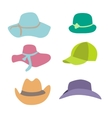 Summer Fashion Beach Accessories Hats Collection vector image