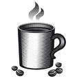 mug of coffee vector image