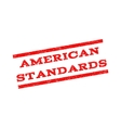 American Standards Watermark Stamp vector image vector image