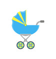 baby carriage pram icon stroller silhouette vector image vector image