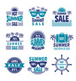 badges of summer sale advertising pictures vector image vector image