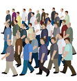 Big crowd of men moving to the common direction vector image vector image