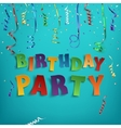 birthday party poster template vector image