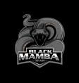 black mamba insignia vector image vector image