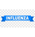 blue tape with influenza caption vector image