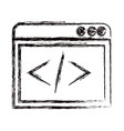 Blurred thick contour web development icon