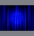 brightly lit curtains in theatre concept vector image