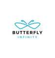 butterfly infinity logo icon vector image