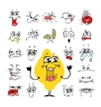 Cartoon Facial Expressions Set for Humor Design vector image vector image