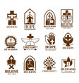 christian church parish or community icons vector image