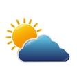 cloud sun nature vector image